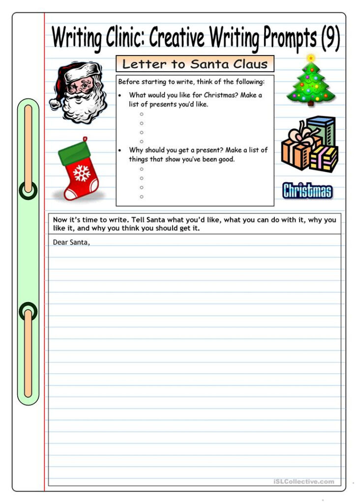 Writing Clinic: Creative Writing Prompts (9)   Letter To Within Letter 9 Worksheets