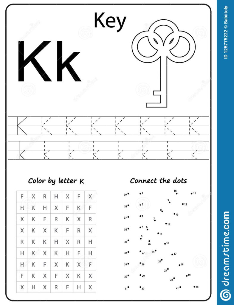 Writing Letter K. Worksheet. Writing A Z, Alphabet Inside Alphabet Worksheets For Kindergarten