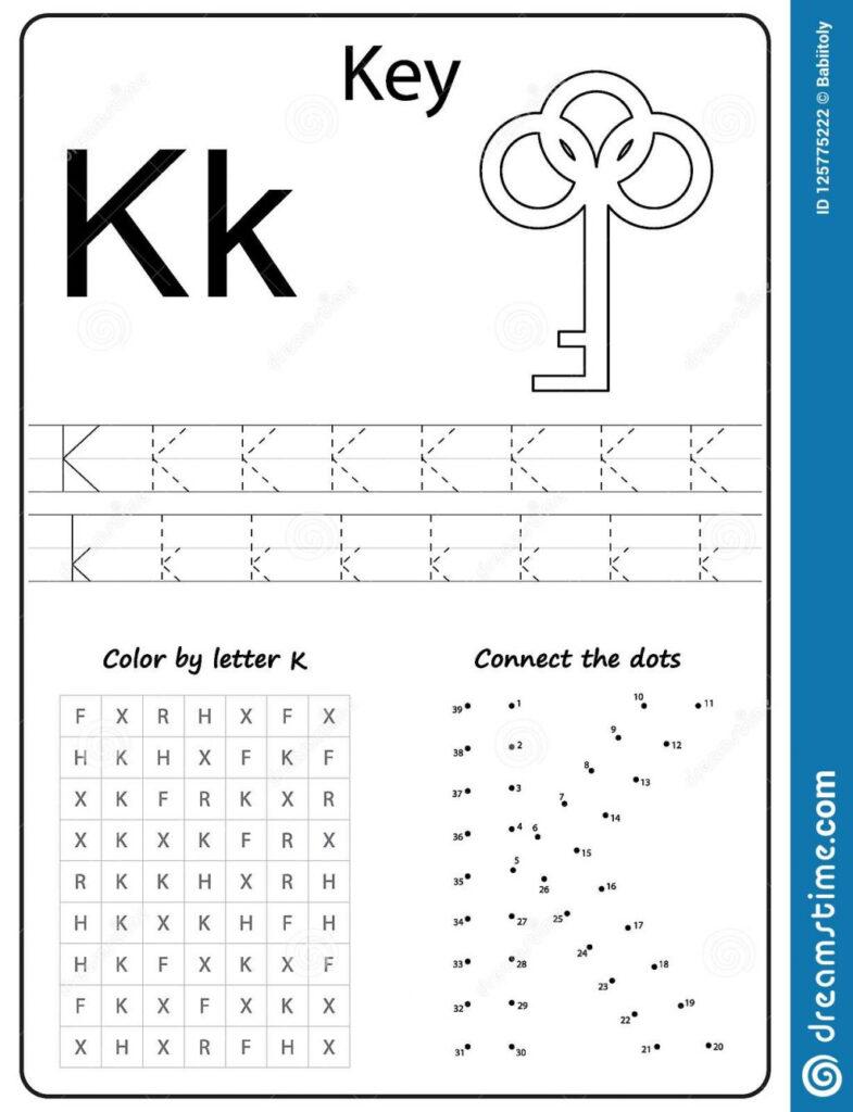 Writing Letter K Worksheet Z Alphabet Kids Worksheets Az For In Letter K Worksheets Printable