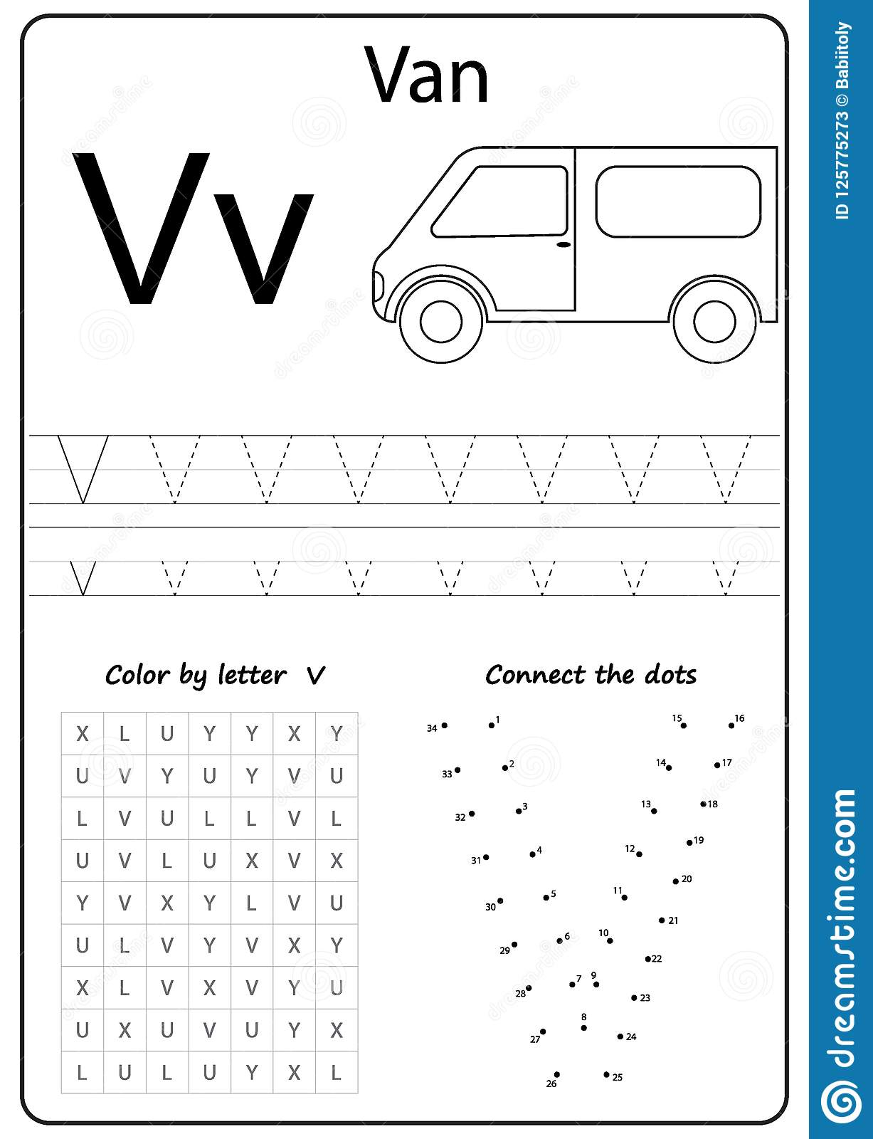 Writing Letter V. Worksheet. Writing A-Z, Alphabet intended for Letter V Worksheets For Kindergarten
