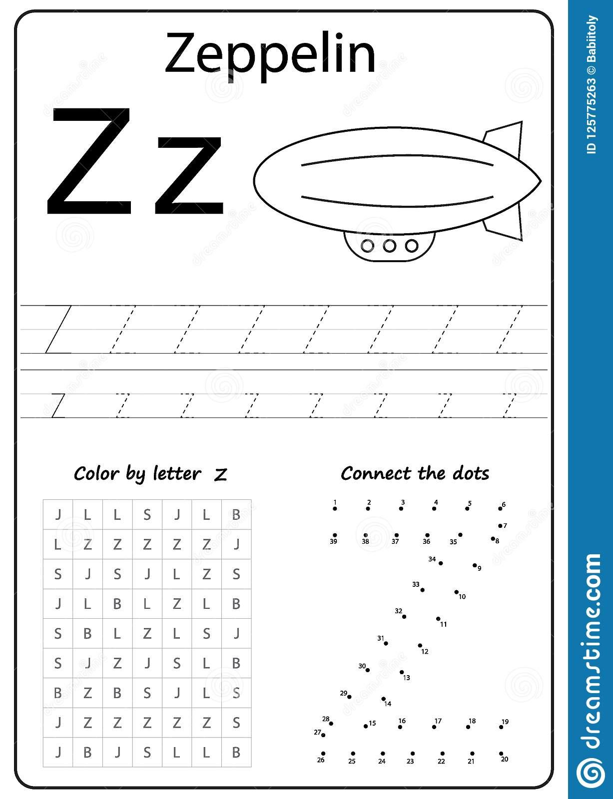 Writing Letter Z. Worksheet. Writing A-Z, Alphabet in Letter Z Worksheets For Kindergarten