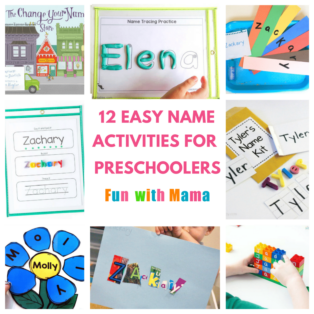 12 Hands On Name Activities For Preschooolers - Fun With Mama with regard to Name Tracing Powerful Mothering