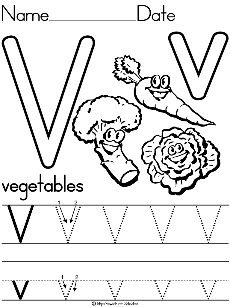 12 Learning The Letter V Worksheets | Kittybabylove throughout Letter V Tracing Preschool