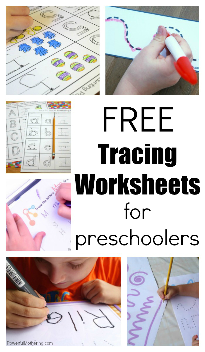 20+ Free Preschool Tracing Worksheets with Name Tracing Powerful Mothering