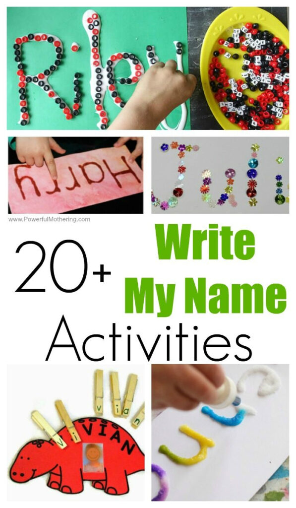 20+ Fun Write My Name Activities For Toddlers And Preschoolers Intended For Name Tracing Powerful Mothering