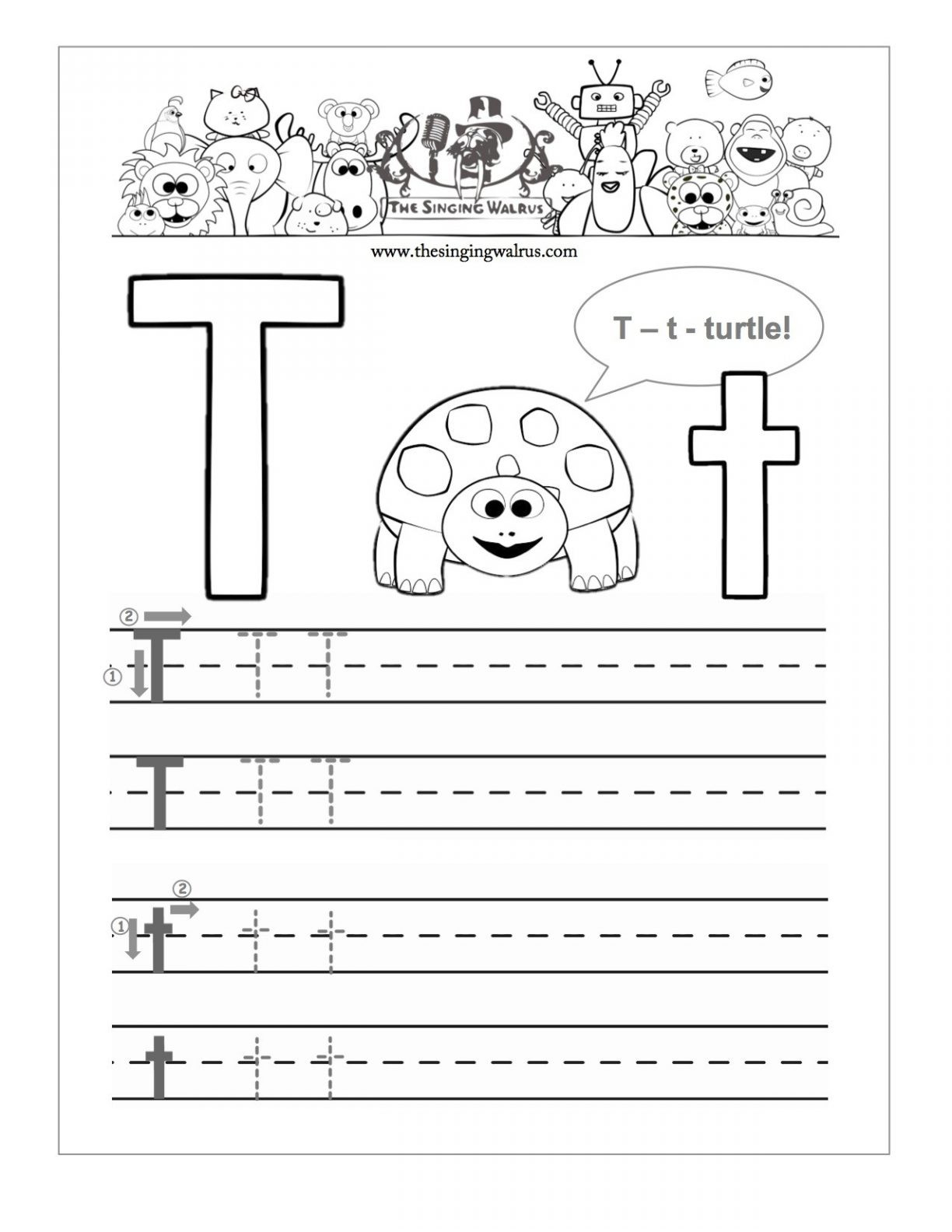 20 Learning The Letter T Worksheets | Kittybabylove with regard to Letter T Worksheets Sparklebox