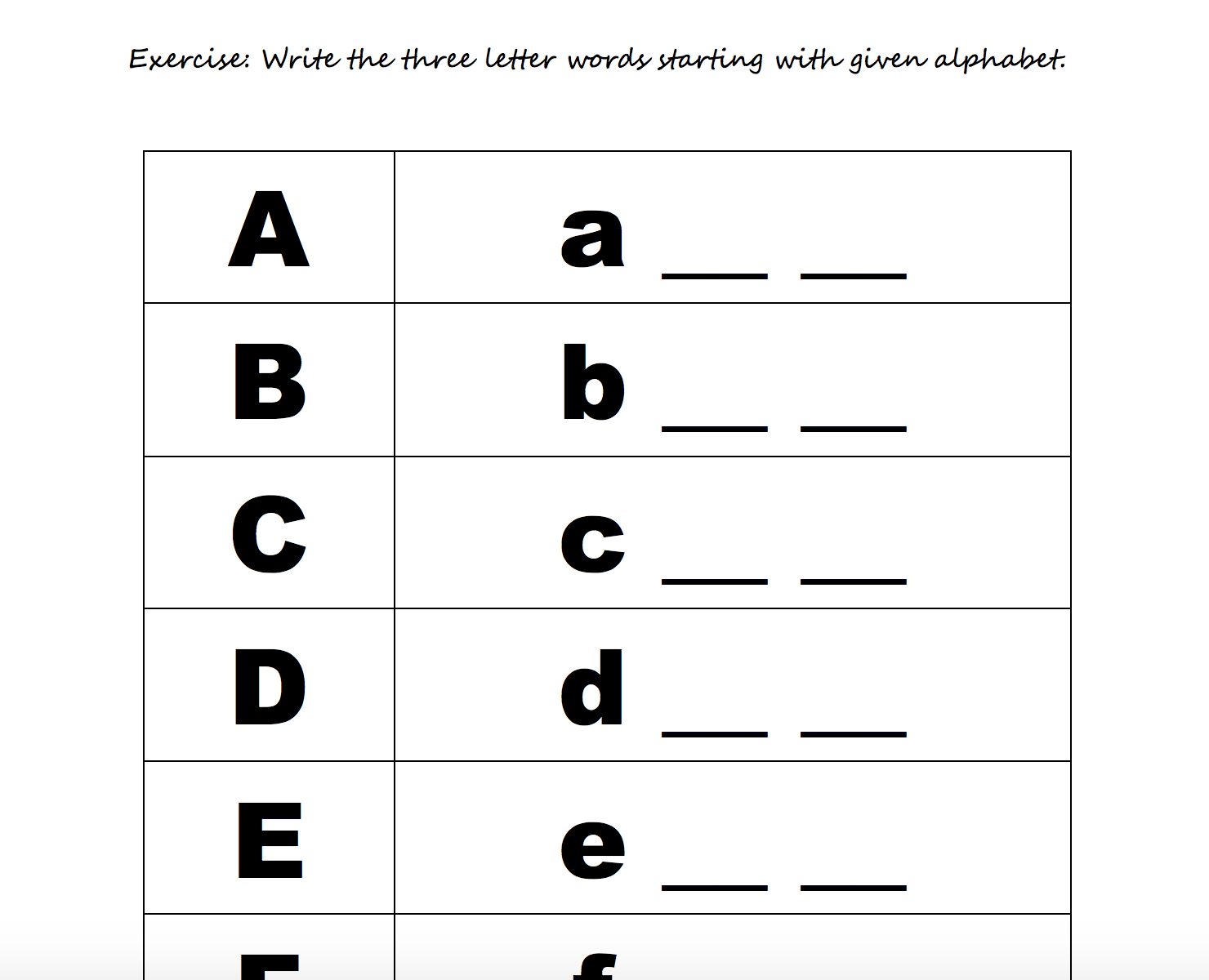 208 Free Alphabet Worksheets in Alphabet Words Worksheets