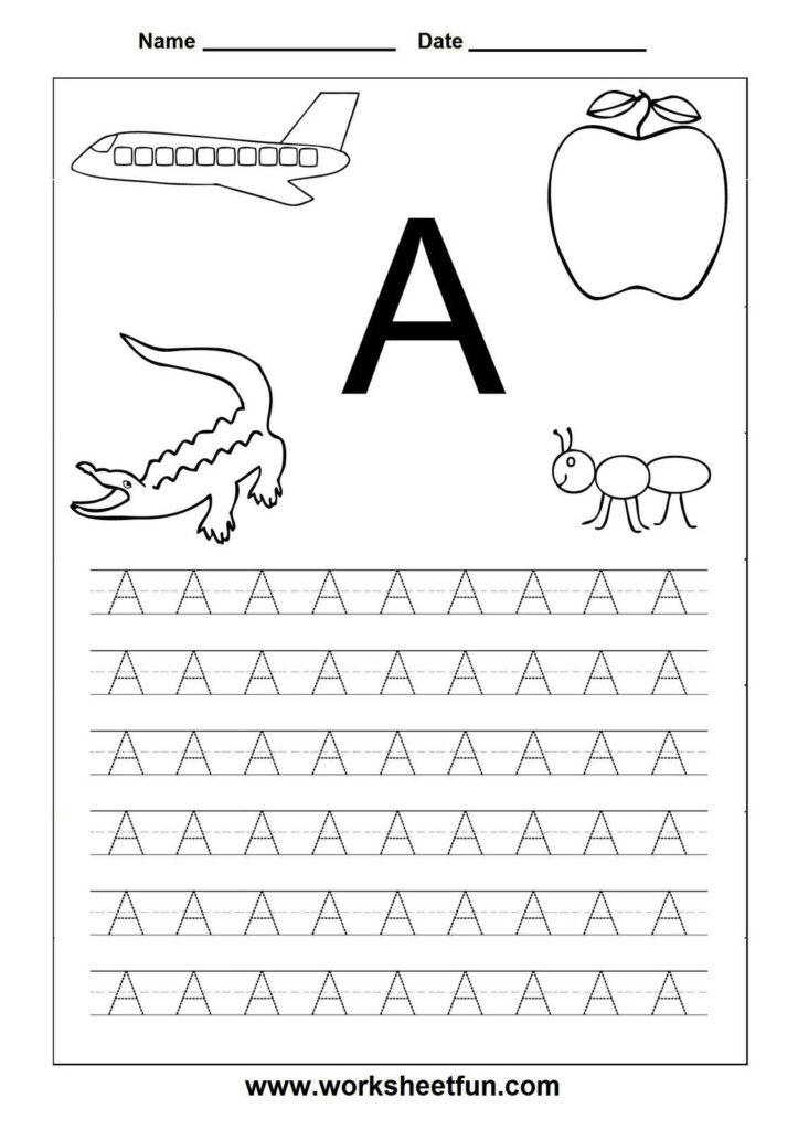 3 Alphabet Worksheets Preschool Free Printable Letters In Intended For Alphabet A Worksheets For Preschool