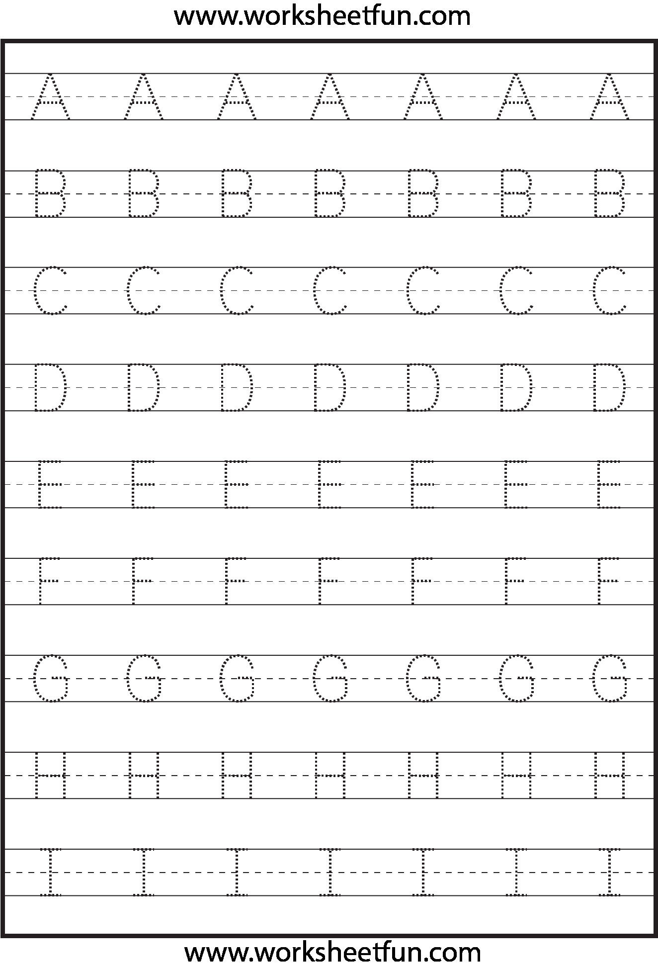 3 Kindergarten Abc Tracing Worksheet R – Learning Worksheets throughout Alphabet Tracing Handout