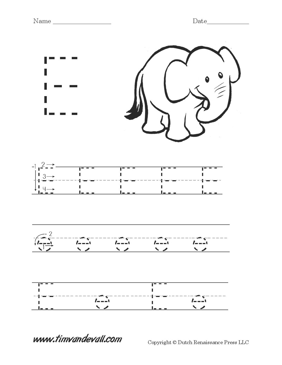 32 Fun Letter E Worksheets | Kittybabylove with Letter E Worksheets For Nursery