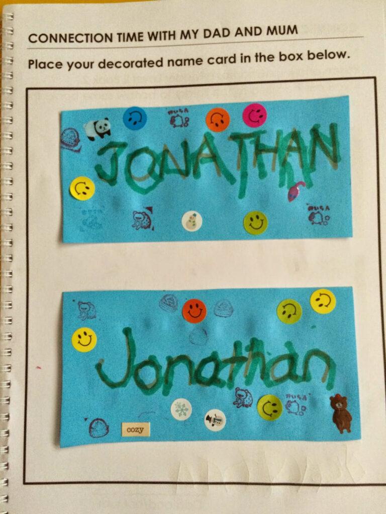 4 To 4 Pertaining To Jonathan Name Tracing