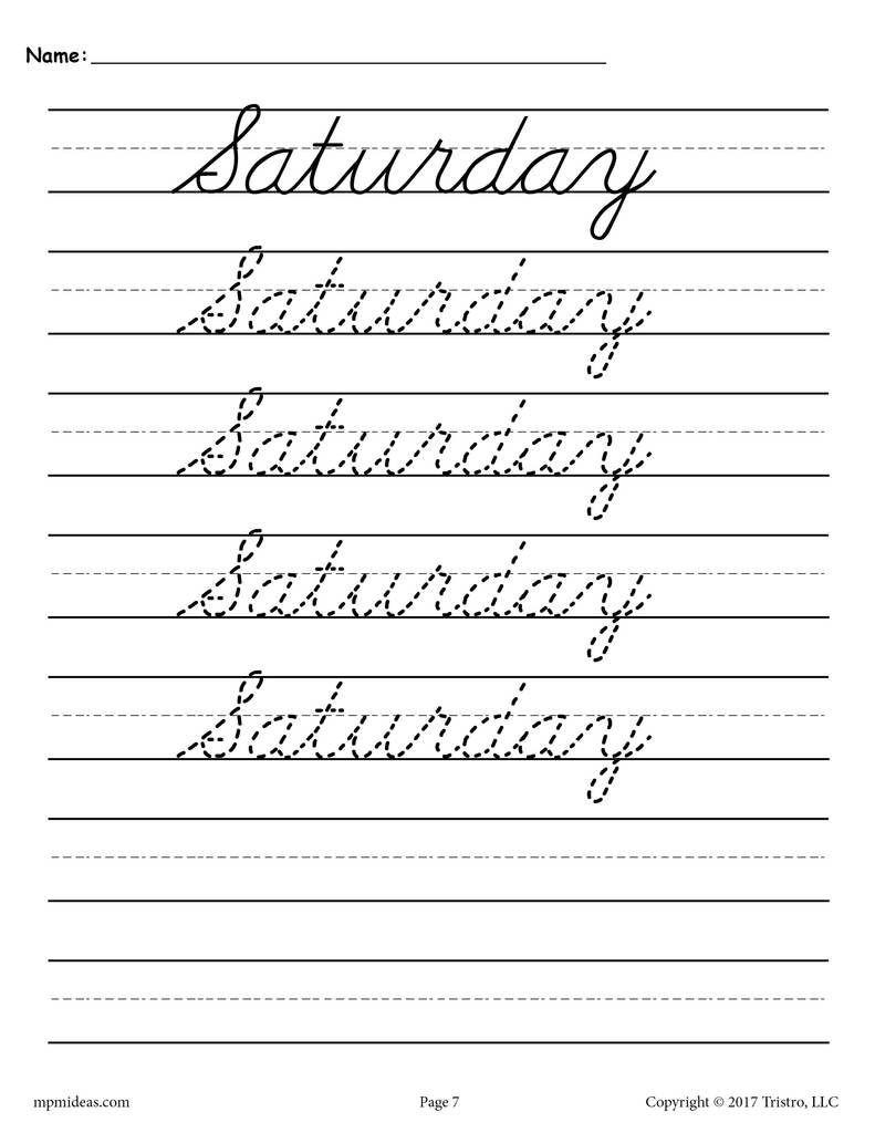 6 Handwriting Cursive Writing Worksheet – Learning Worksheets with regard to Name Tracing Cursive