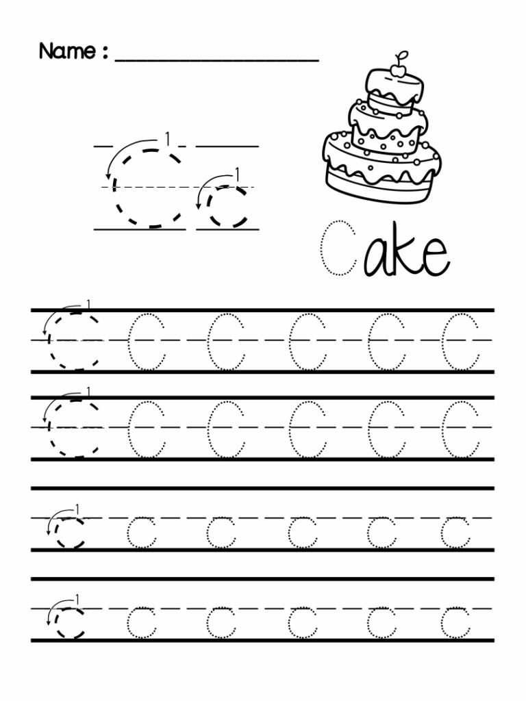 7 Best Images Of Preschool Writing Worksheets Free Printable Within Letter C Worksheets For Pre K