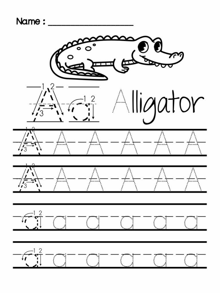 7 Best Images Of Preschool Writing Worksheets Free Printable Within Letter Worksheets A