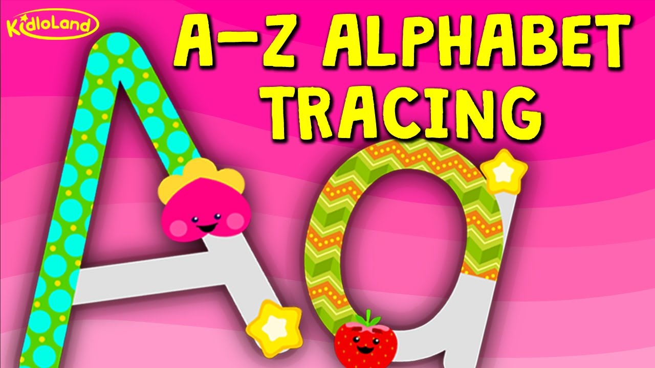A-Z Alphabet Tracing (Uppercase Letters & Lowercase Letters)Kidloland pertaining to Alphabet Tracing Lowercase Letters