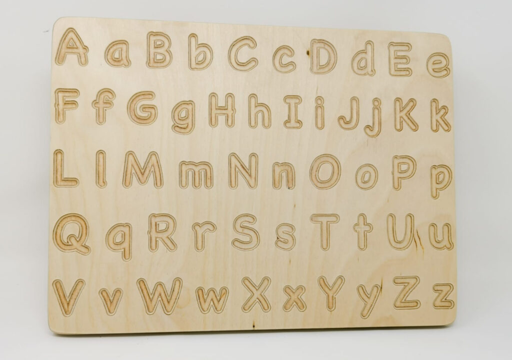 A Z Alphabet Wooden Tracing Board With Regard To Alphabet Tracing Board