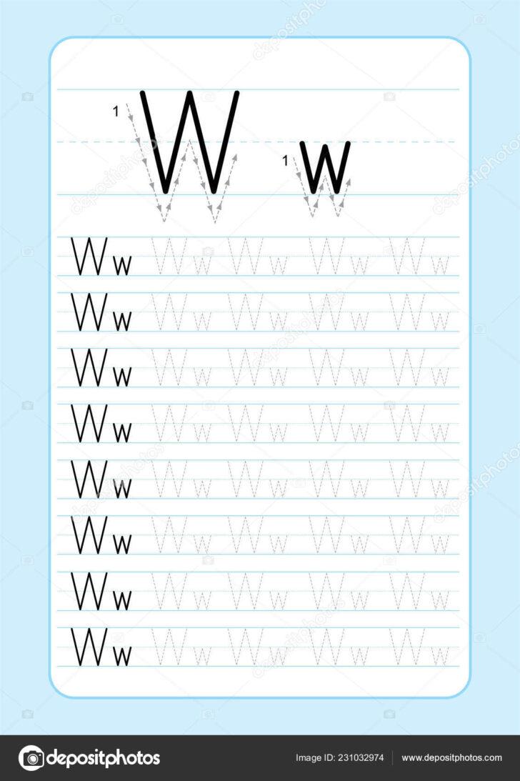 Letter V Tracing Paper