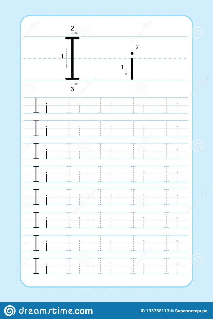 Abc Alphabet Letters Tracing Worksheet With Alphabet Letters Regarding I Letter Tracing