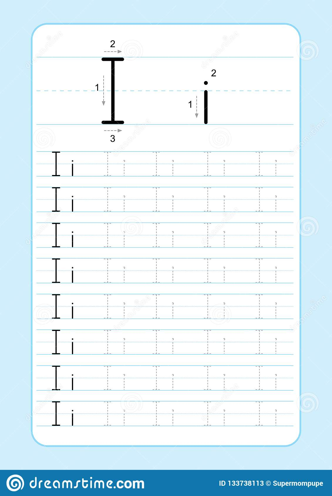 Abc Alphabet Letters Tracing Worksheet With Alphabet Letters throughout I Letter Tracing Worksheet