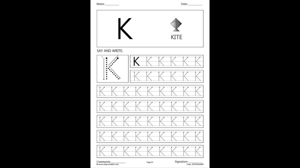 Abc Dot Handwriting Worksheets For Tracing Your Name With Dots