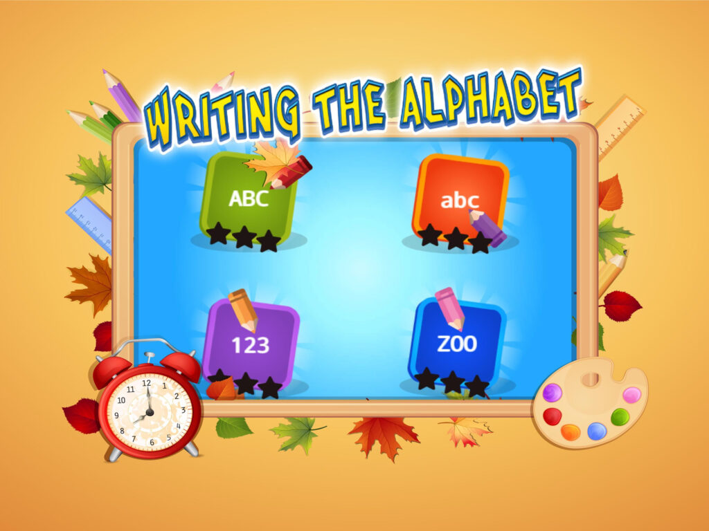 Abc Kids Writing Alphabet   Trace Handwriting App For In Alphabet Tracing App