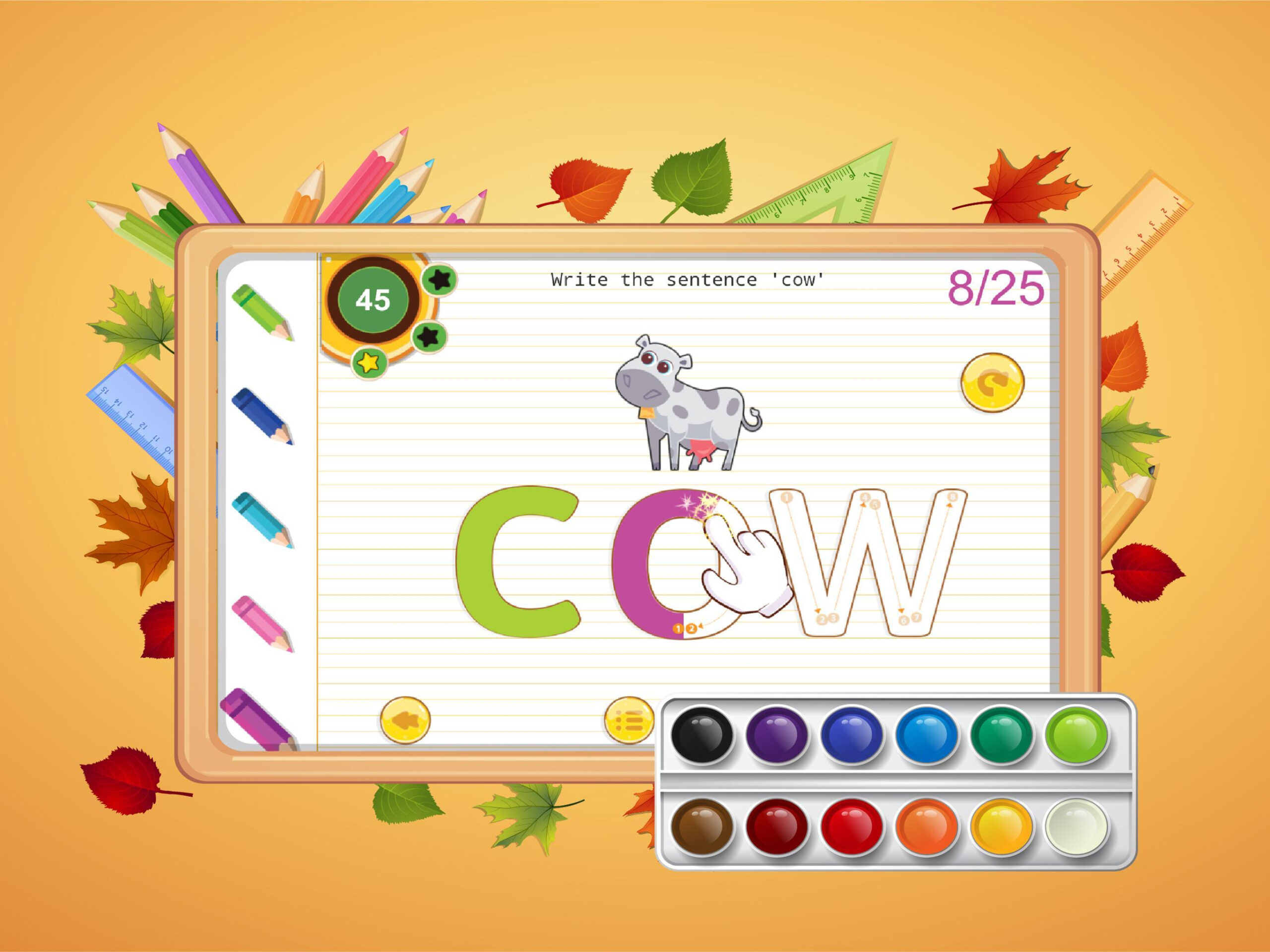 Abc Kids Writing Alphabet - Trace Handwriting App For with regard to Alphabet Tracing Free App