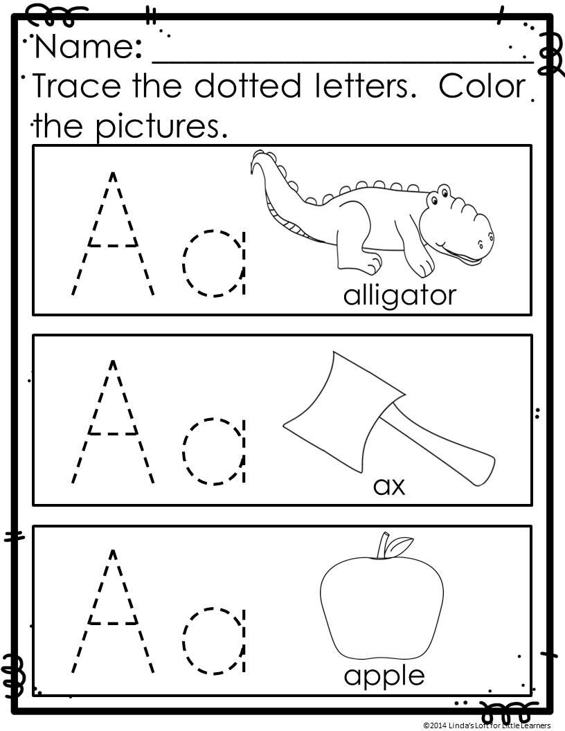 Abc Practice Trace And Color Printables | Letter Recognition in Name Tracing Colored