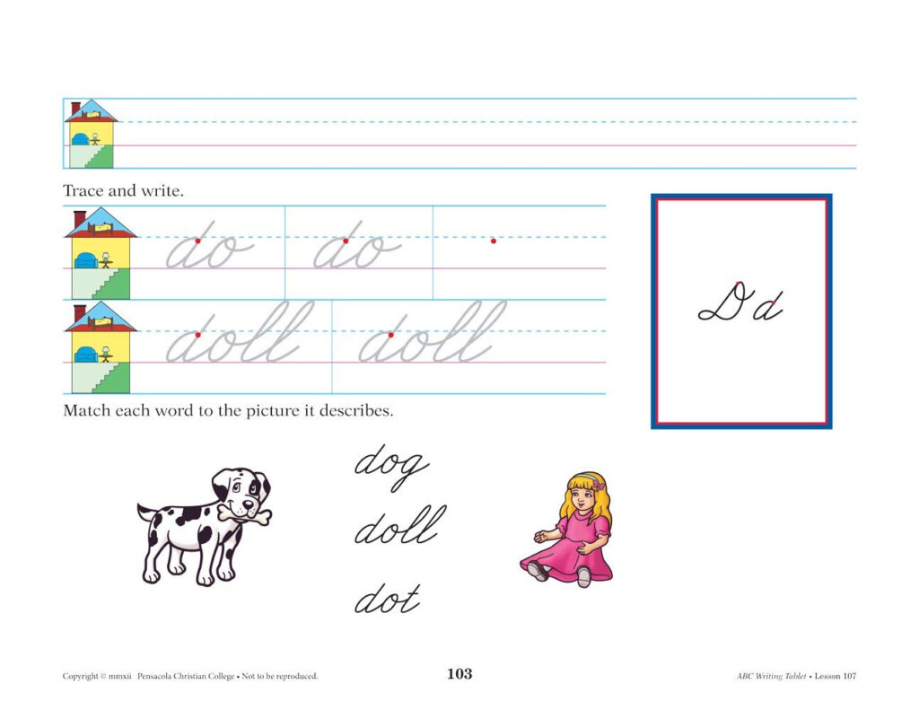 Abc Writing Tablet Cursive | Fun Writing Activities, Abeka Within Alphabet Tracing Tablet