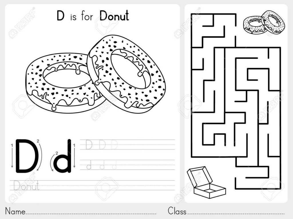 Alphabet A Z Tracing And Puzzle Worksheet, Exercises For Kids.. Within Alphabet Tracing Puzzle