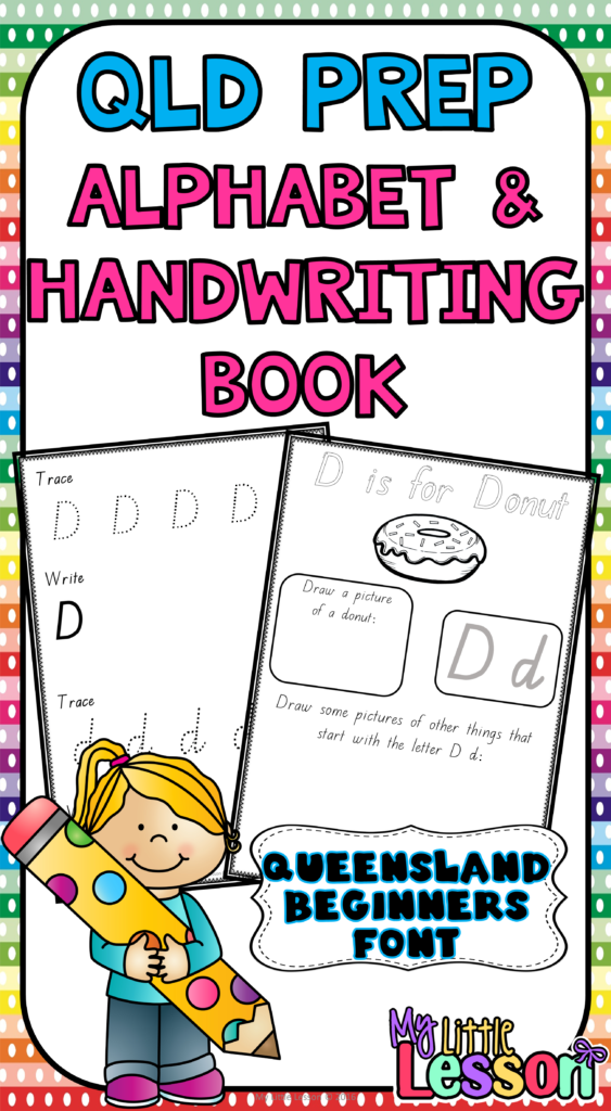 Alphabet And Handwriting Book Qld Beginners Font With Queensland Alphabet Tracing