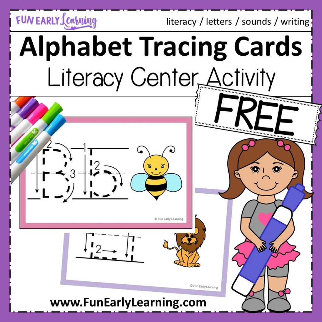Alphabet Animal Tracing Cards For Letters And Writing throughout Alphabet Tracing Cards