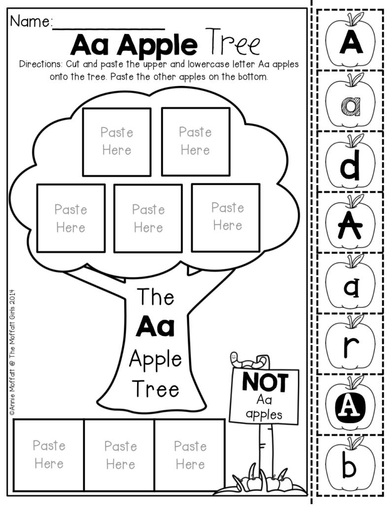 Alphabet Apple Tree Letter Sort! I Love The How Different In Alphabet Sorting Worksheets