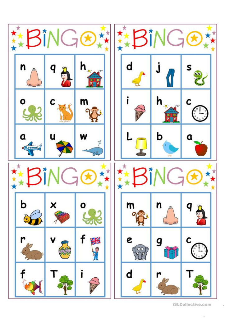Alphabet Bingo   English Esl Worksheets For Distance Pertaining To Alphabet Worksheets Pdf Esl
