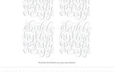 Alphabet Worksheets Brush Lettering