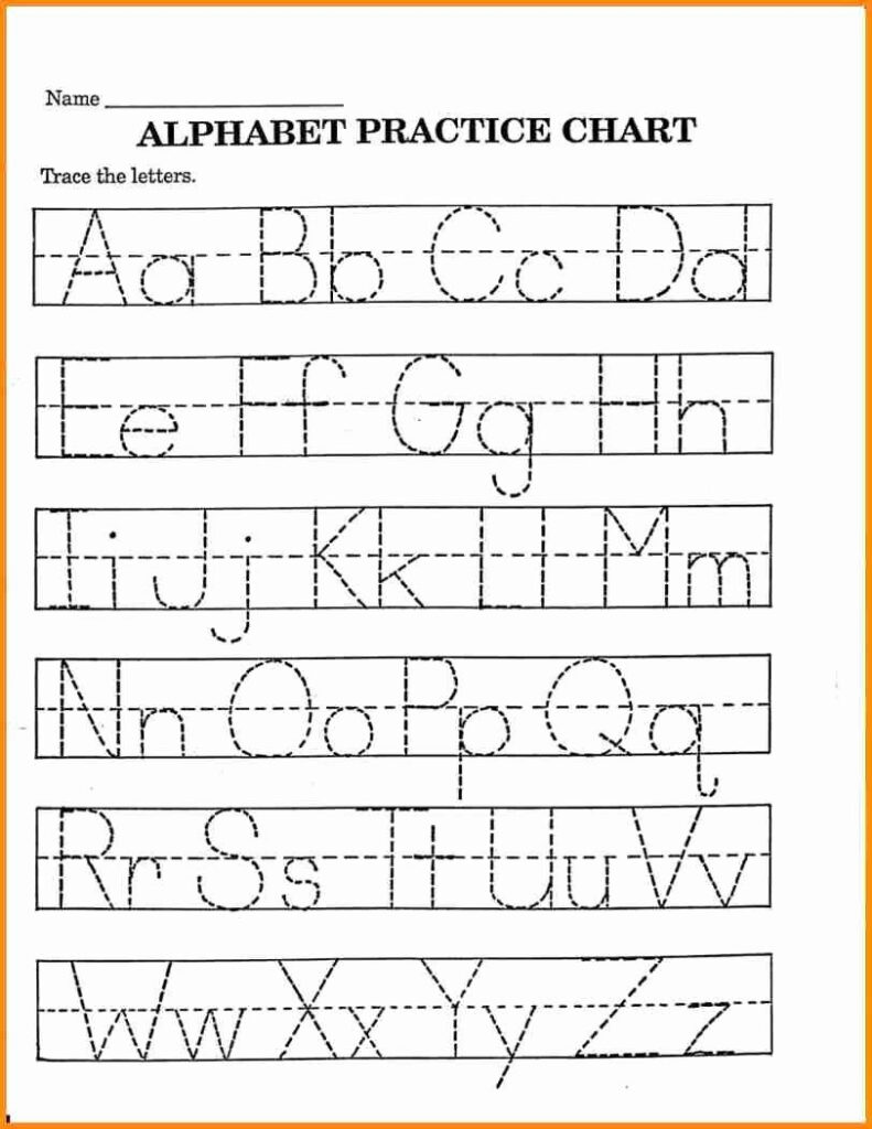 Alphabet Coloring Chart Printable | Printable Alphabet Pertaining To Alphabet Tracing Chart Printable