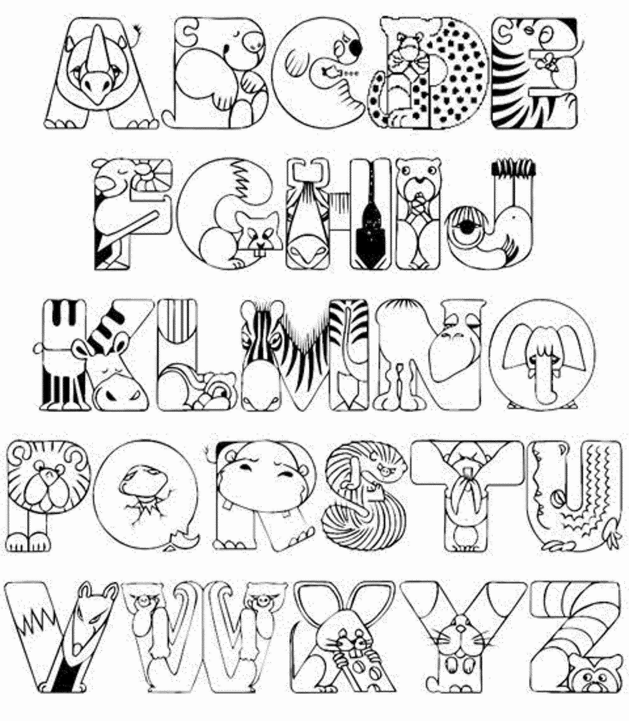 Alphabet Coloring Pages Preschool Pdf intended for Alphabet Coloring Worksheets For Kindergarten