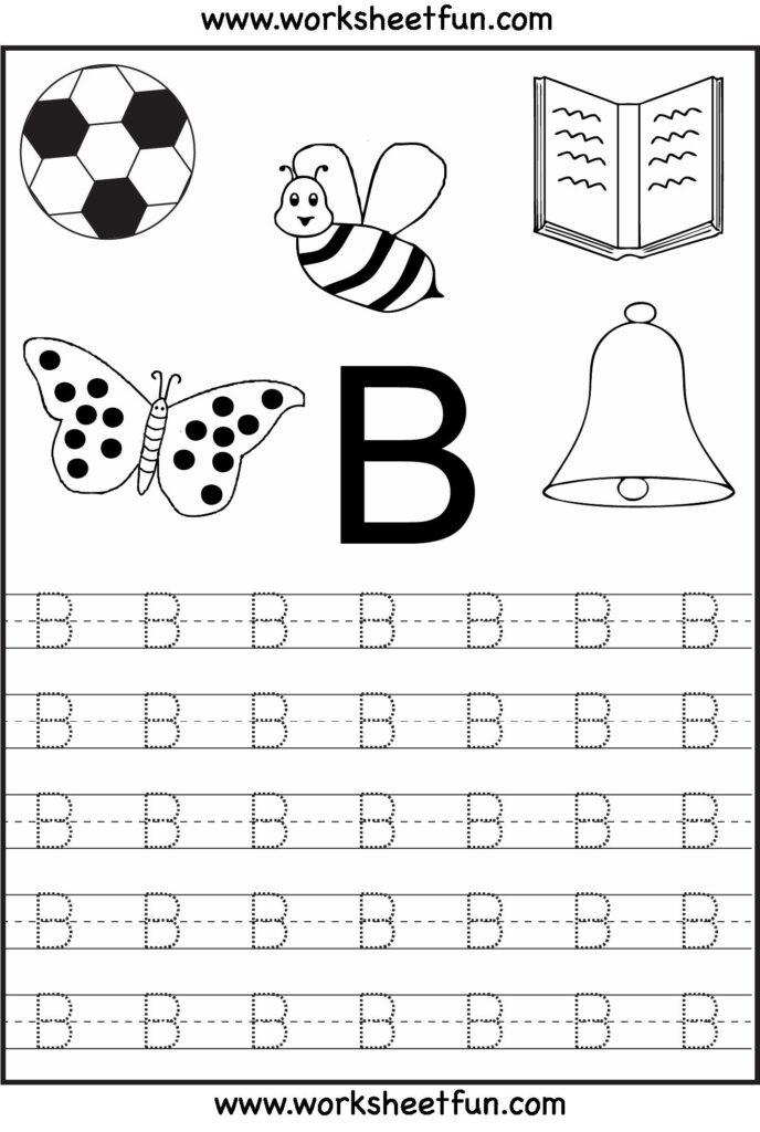 Alphabet Coloring Worksheets A Z Pdf In 2020 (With Images Inside Letter B Worksheets For Kindergarten Pdf