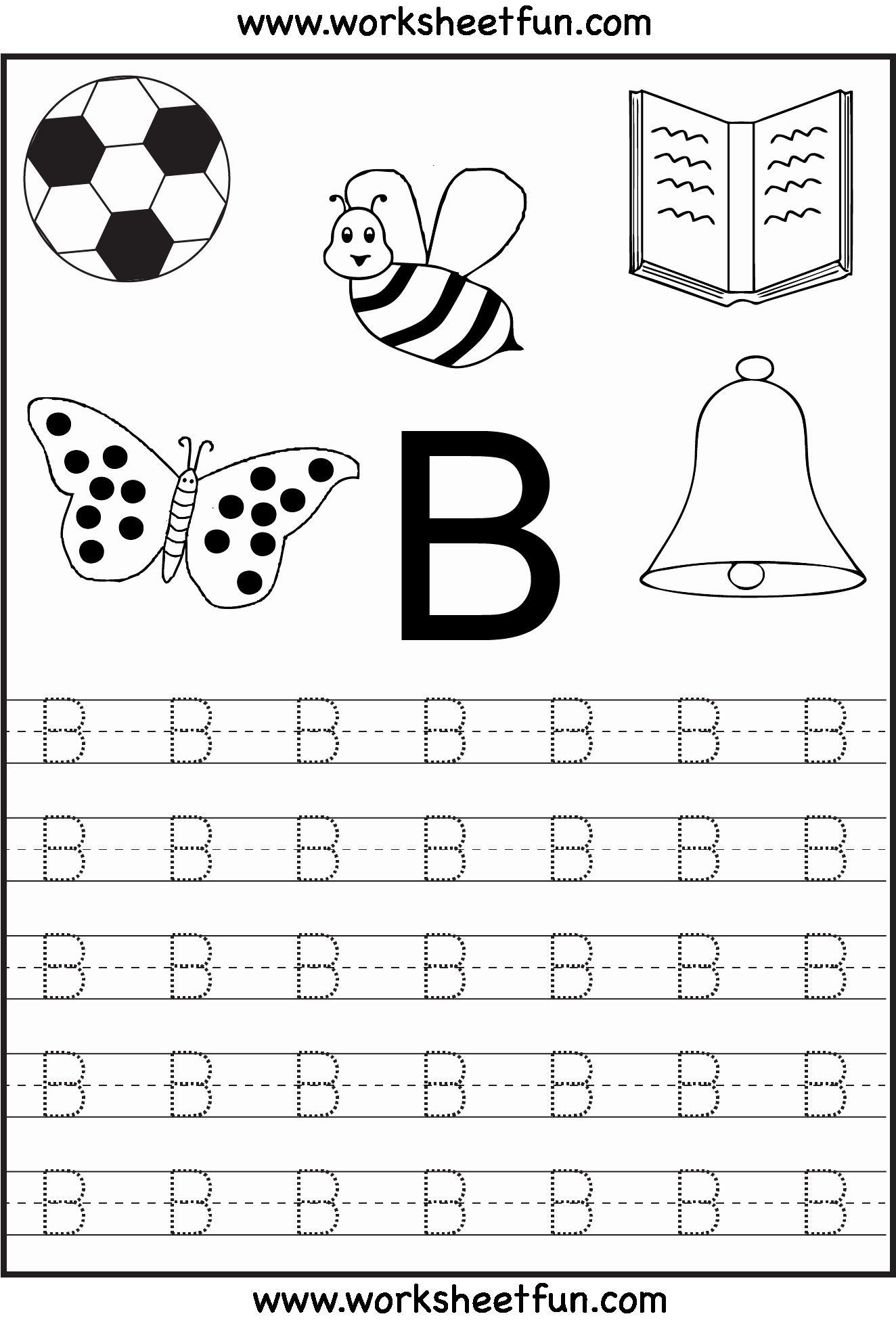 Alphabet Coloring Worksheets A-Z Pdf In 2020 (With Images inside Letter B Worksheets For Kindergarten Pdf