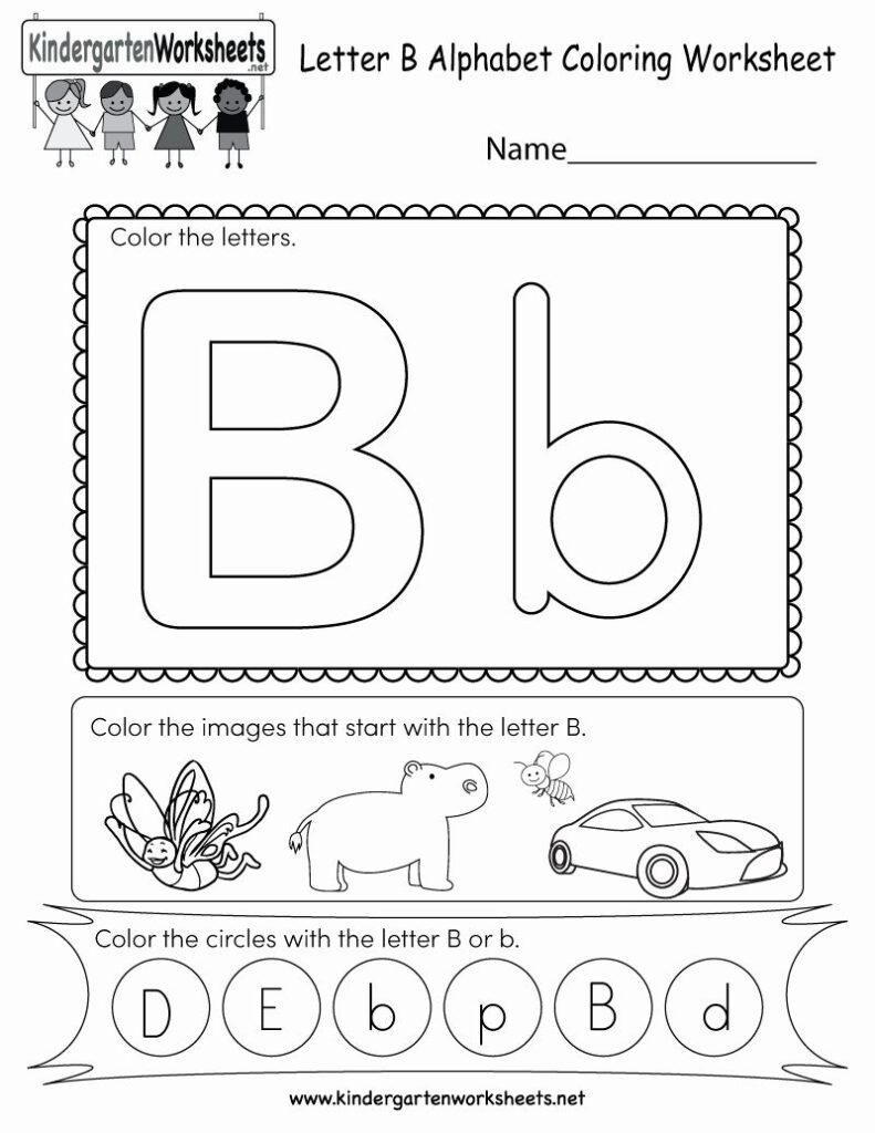 Alphabet Coloring Worksheets For Kindergarten In 2020 Intended For Letter B Worksheets Free Printables