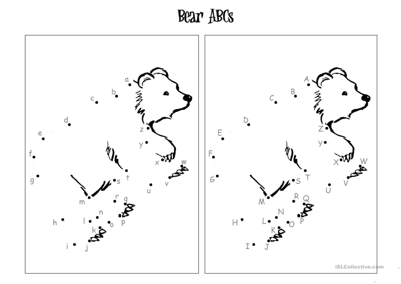 Alphabet Dot To Dot - English Esl Worksheets For Distance for Alphabet Worksheets Dot To Dot
