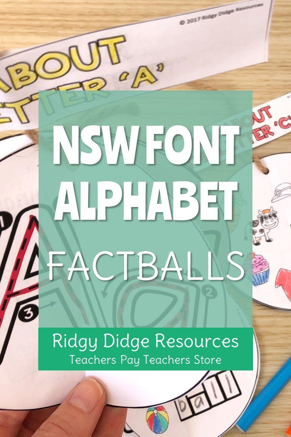 Alphabet Factball Craftivity Nsw Foundation Font | Abc with Alphabet Tracing Nsw Foundation Font