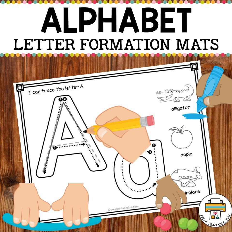Alphabet Formation Mats - Pre-K Printable Fun throughout Alphabet Tracing Mat
