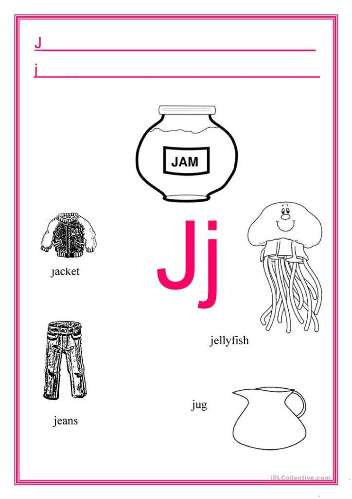 Alphabet Letter J   English Esl Worksheets For Distance With Regard To Letter J Worksheets Activity