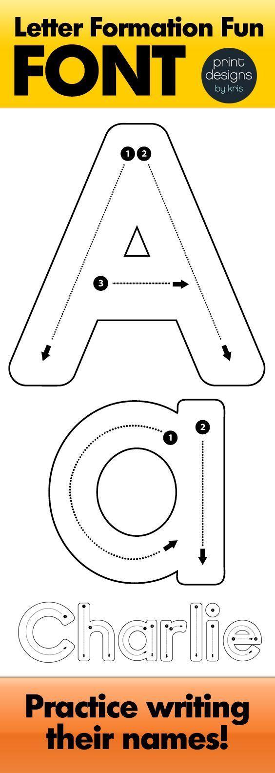 Alphabet Letter Tracing Font • Letter Formation Font pertaining to Alphabet Tracing Font