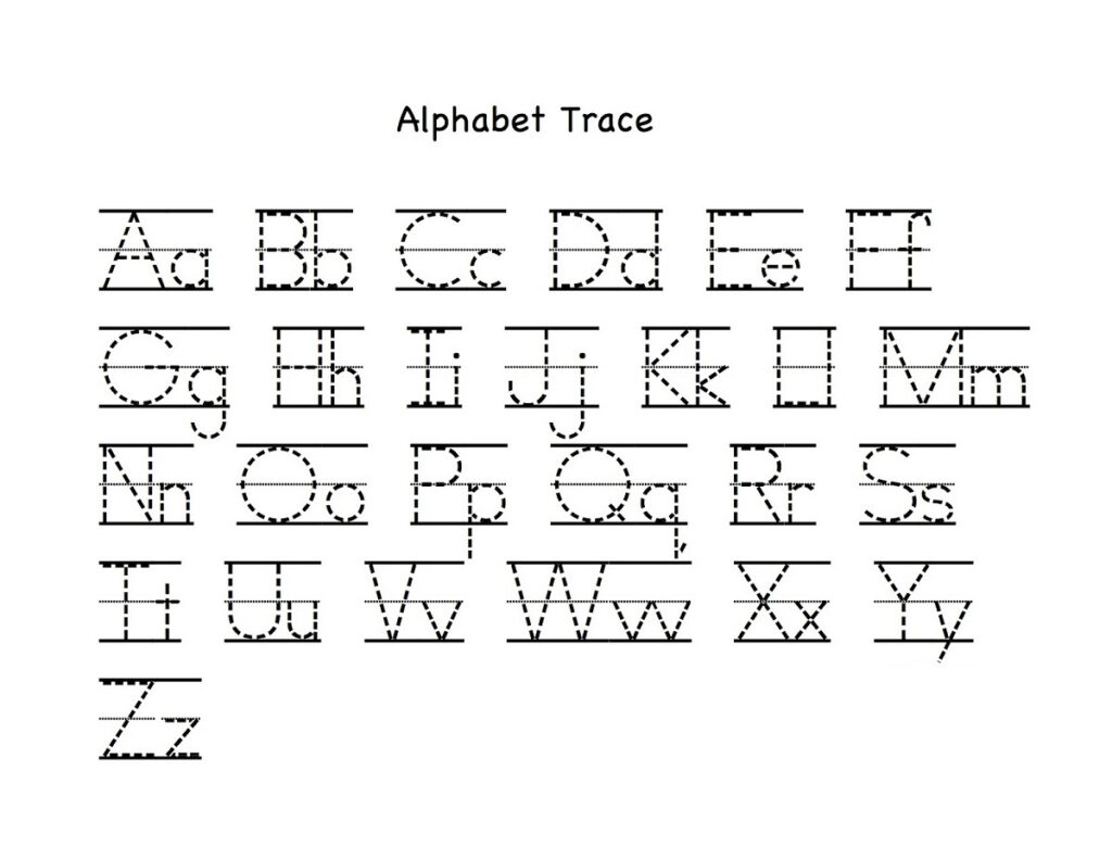 Alphabet Letter Tracing Printables | Activity Shelter Inside Alphabet Tracing Chart Printable
