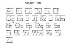 Alphabet Tracing Chart