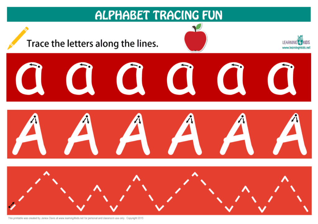 Alphabet Letters Tracing Mats Standard Print With Regard To Alphabet Tracing Mat