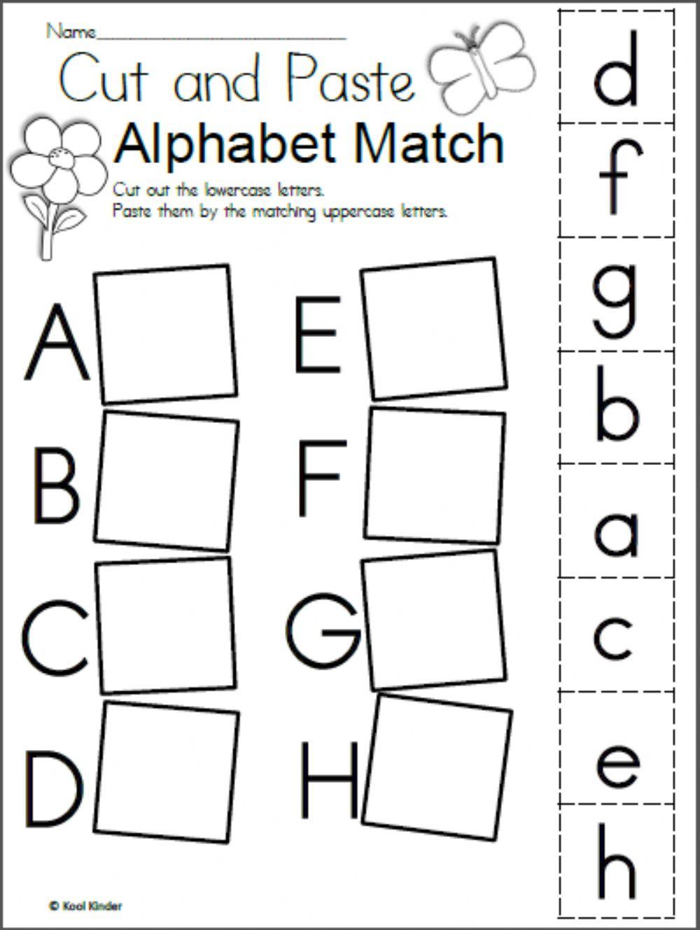 Alphabet Matching - Interactive Worksheet in Alphabet Matching Worksheets With Pictures