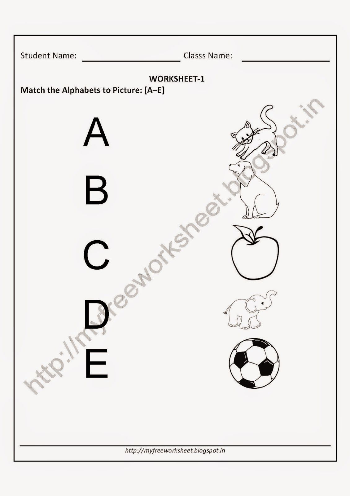 Alphabet Matching Worksheets For Kindergarten Pdf Worksheet with Alphabet Matching Worksheets For Kindergarten Pdf