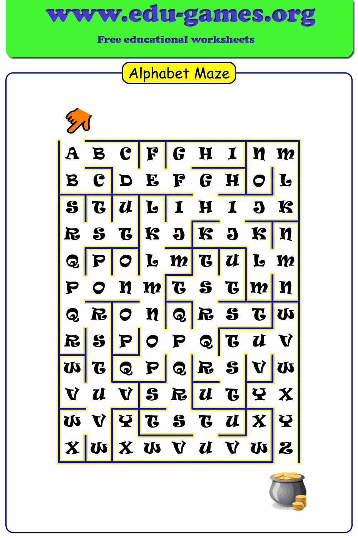 Alphabet Maze Generator | Free Worksheets And Templates inside Alphabet Worksheets Maze